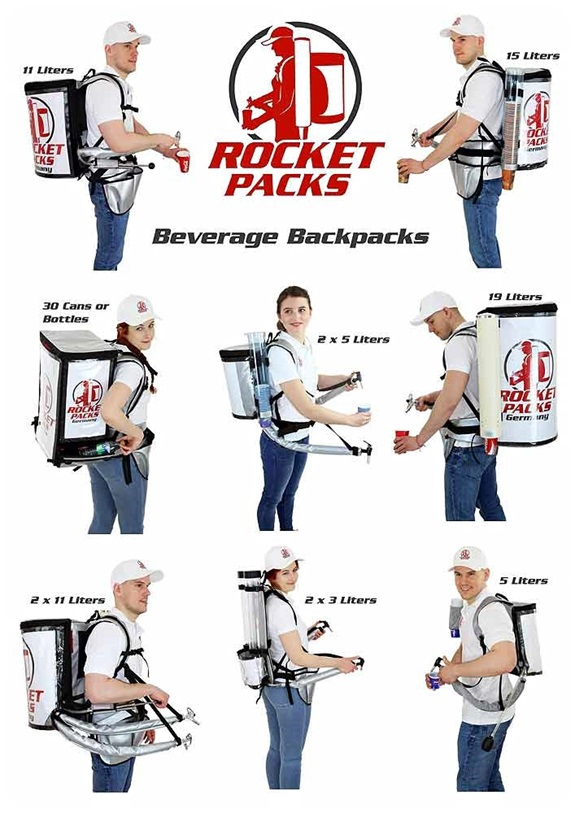 rocketpacks mochila cafe dispensador
